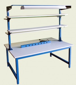 Double sided product 4-legged work bench