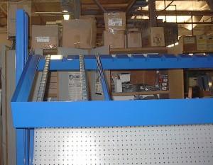 conveyor roller shelf