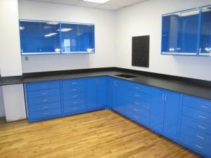 Lab corner wall