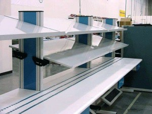 Flow Rack Workstation Tilting Shelves