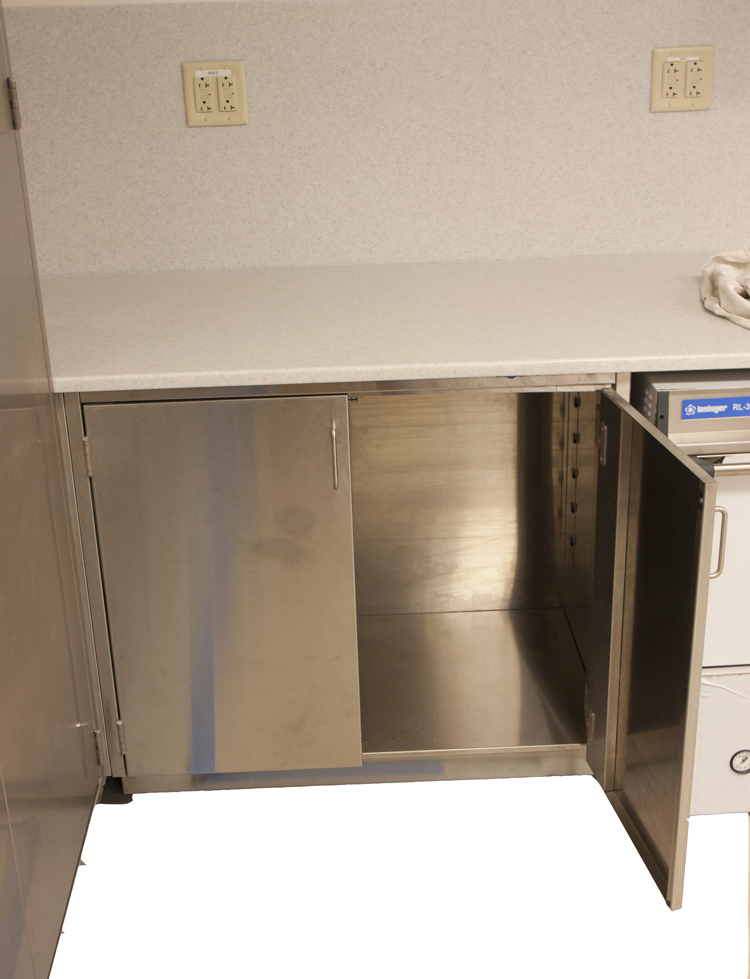 Stainless steel base cab, stainless steel sink cab