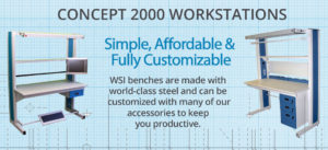 CONCEPT 2000 MODULAR SINGLE SIDED WORKSTATION