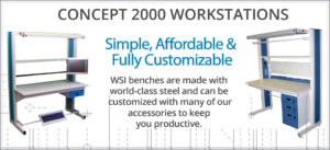 CONCEPT 2000 MODULAR SINGLE SIDED WORKSTATION