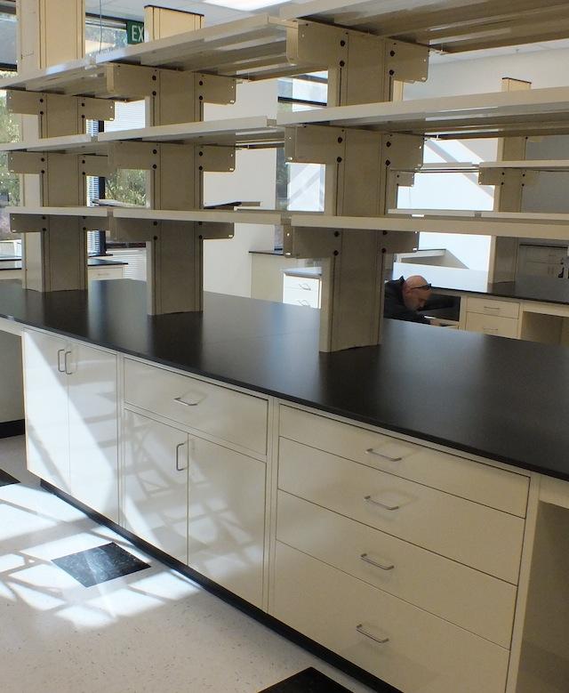 Kitchen Island No Toe Kick: Laboratory Island Casework