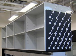 Open shelving cab