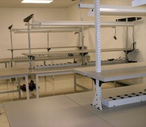 double sided lab bench