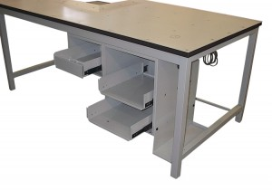 UPS packaging bench