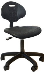 Pu chair eurthane desk height chair