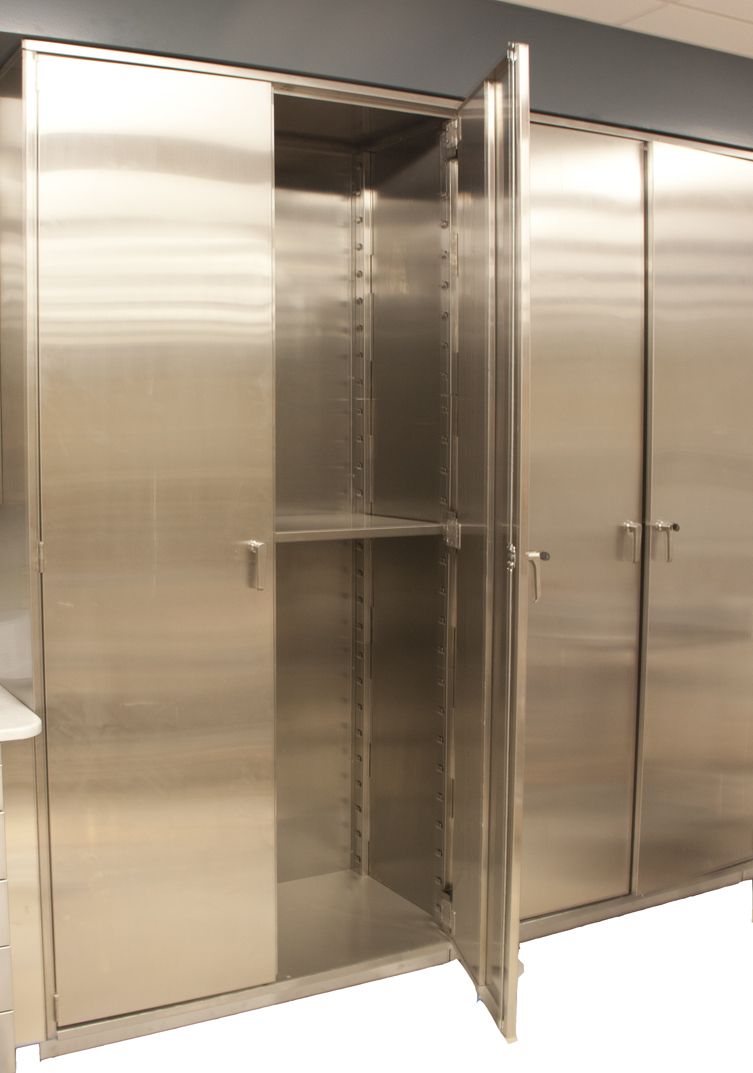 stainless steel tall storage cabinet