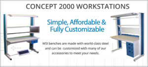 concept 2000 single side workbench